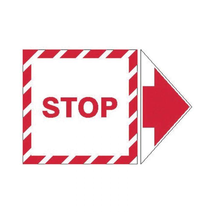845331 Lockout Tagout Labels - Arrow Label Stop