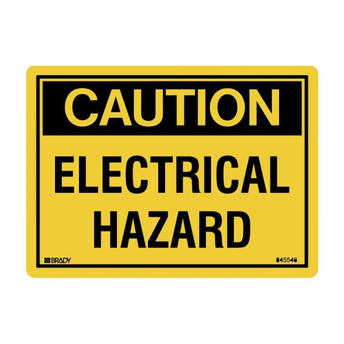 845546 Small Stick On Labels - Electrical Hazard