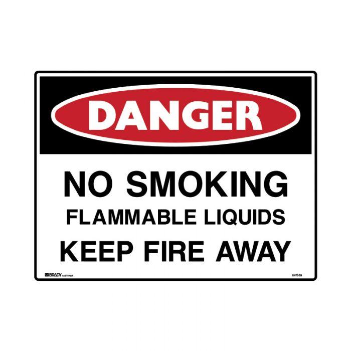 847560 Mining Site Sign - Danger No Smoking Flammable Liquids Keep Fire Away