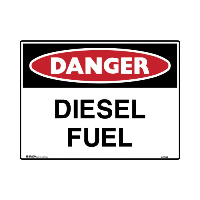 847589 Mining Site Sign - Danger Diesel Fuel