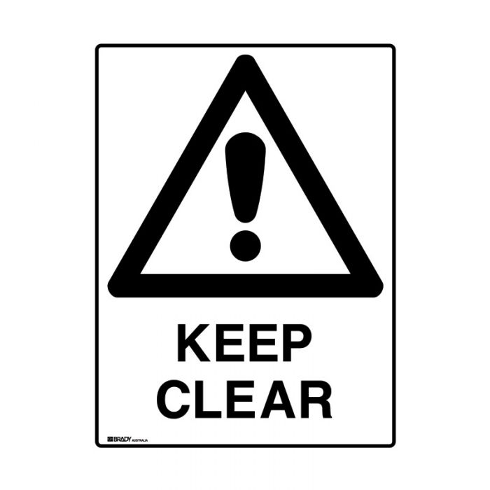 847635 Mining Site Sign - Keep Clear
