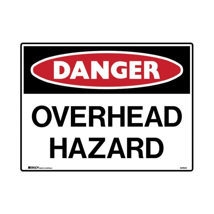 847651 Mining Site Sign - Danger Overhead Hazard
