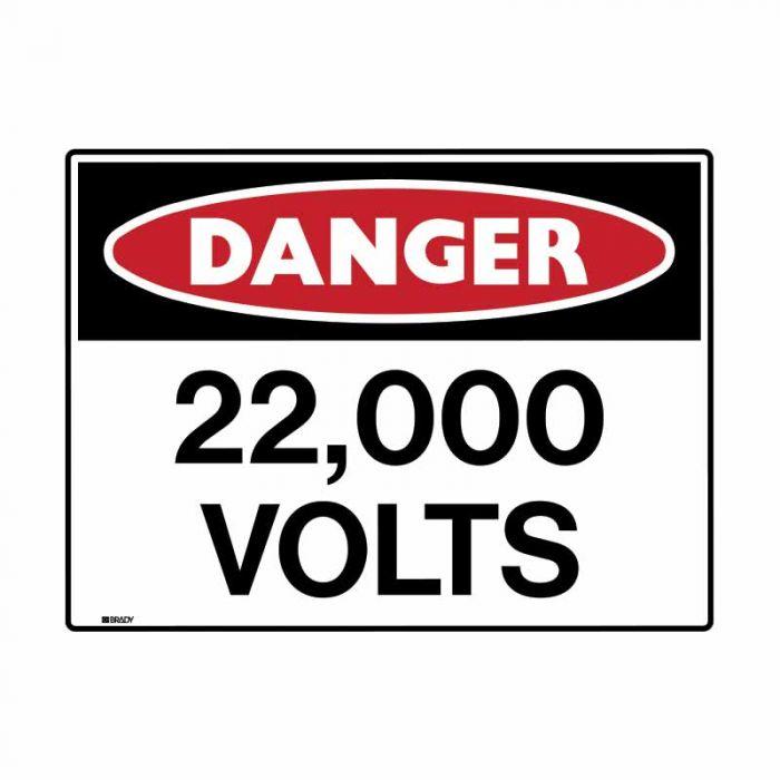 847668 Electrical Hazard Sign - Danger 22