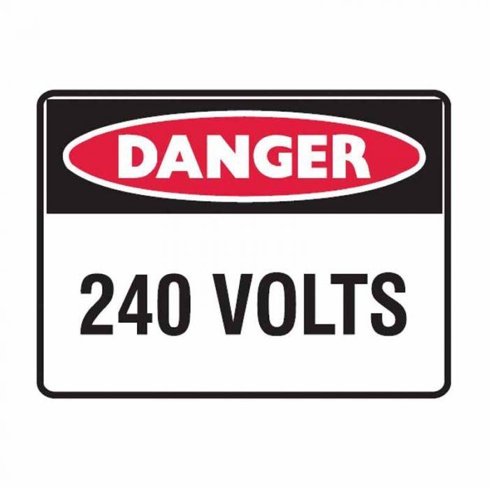 847690 Electrical Hazard Sign - Danger 240 Volts