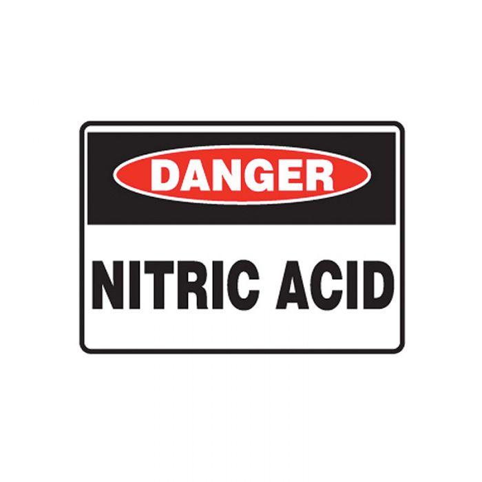 847715 Mining Site Sign - Danger Nitric Acid