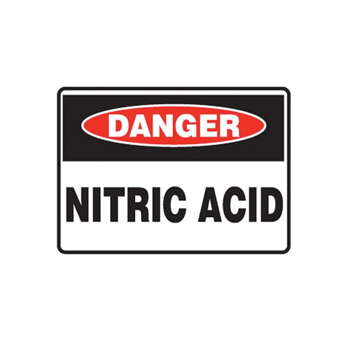 847716 Mining Site Sign - Danger Nitric Acid