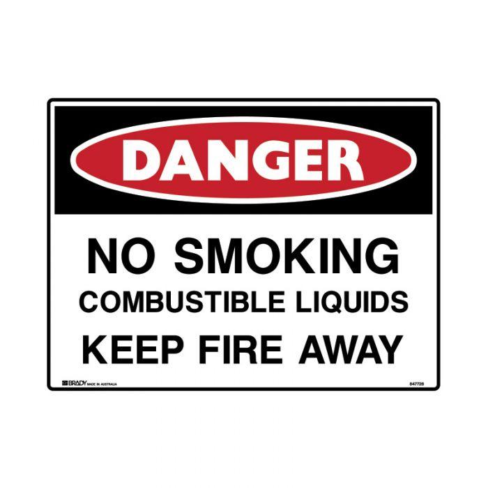 847731 Mining Site Sign - Danger No Smoking Combustible Liquids Keep Fire Away