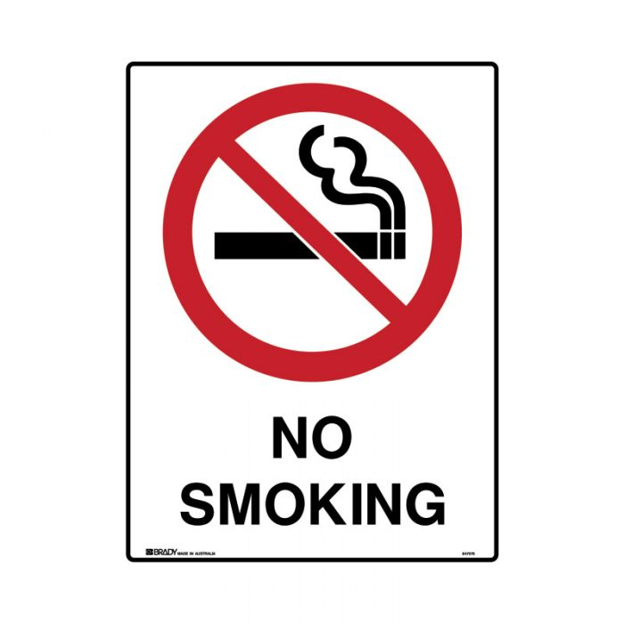 847736 Mining Site Sign - No Smoking