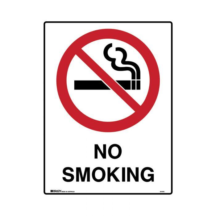847737 Mining Site Sign - No Smoking