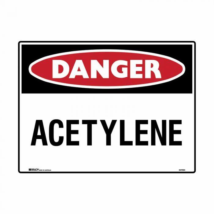 847757 Mining Site Sign - Danger Acetylene