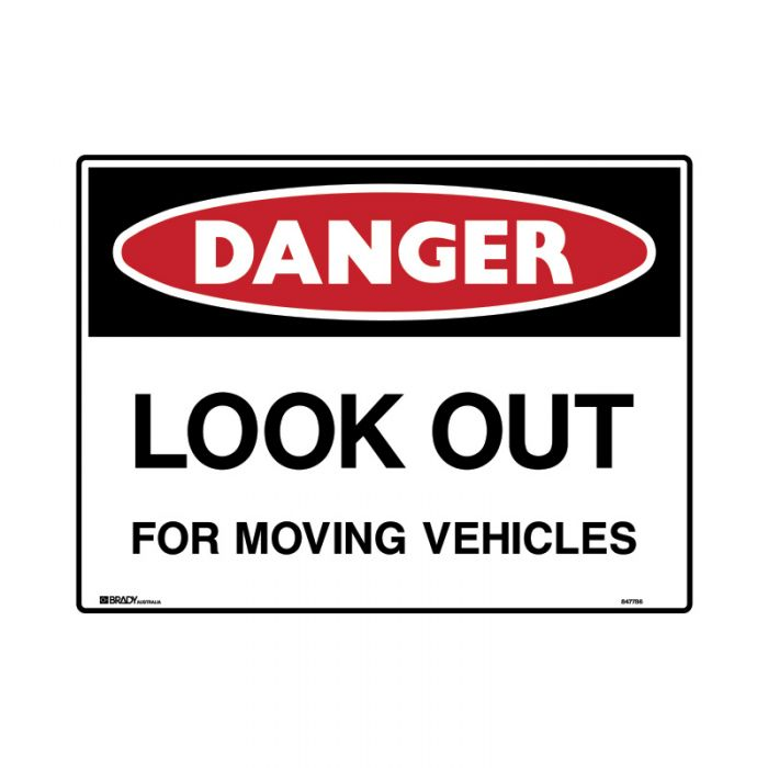 847788 Mining Site Sign - Danger Look Out For Moving Vehicles
