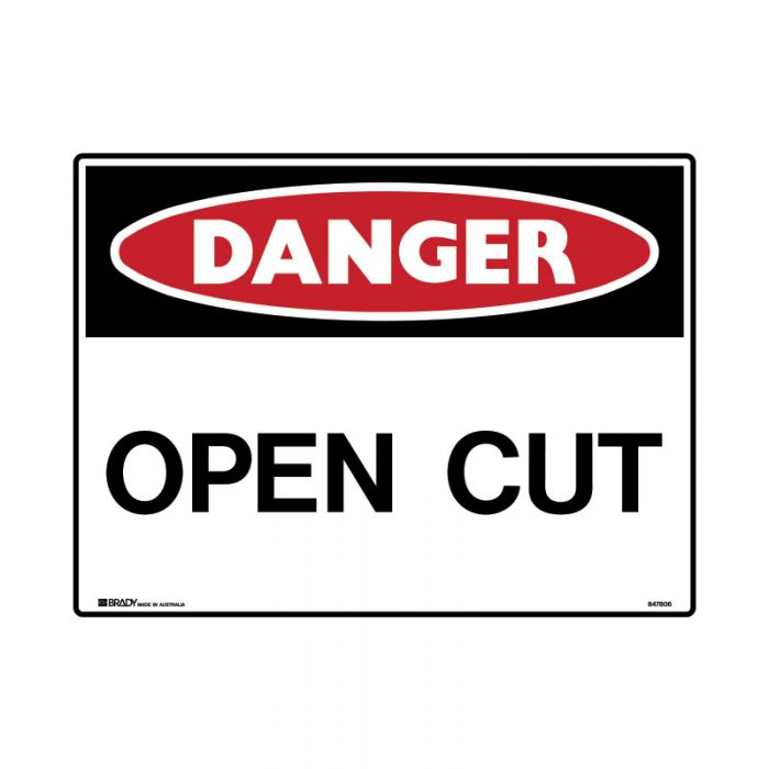 847809 Mining Site Sign - Danger Open Cut