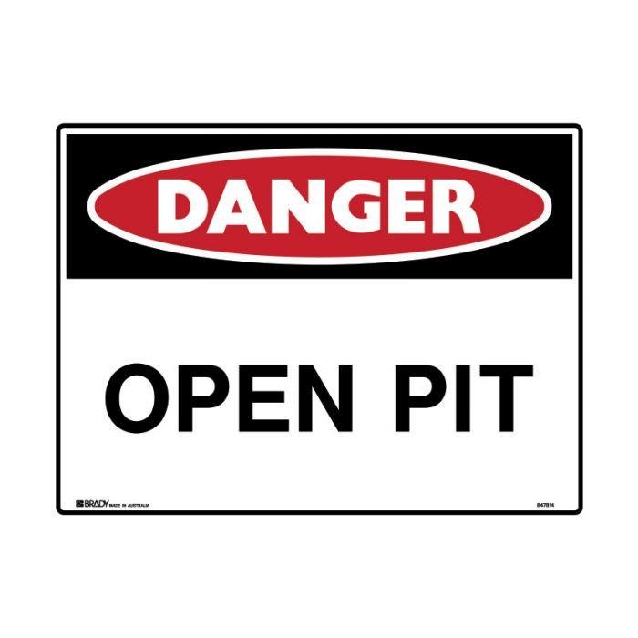 847818 Mining Site Sign - Danger Open Pit