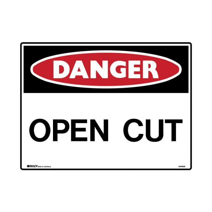 847825 Mining Site Sign - Danger Open Cut