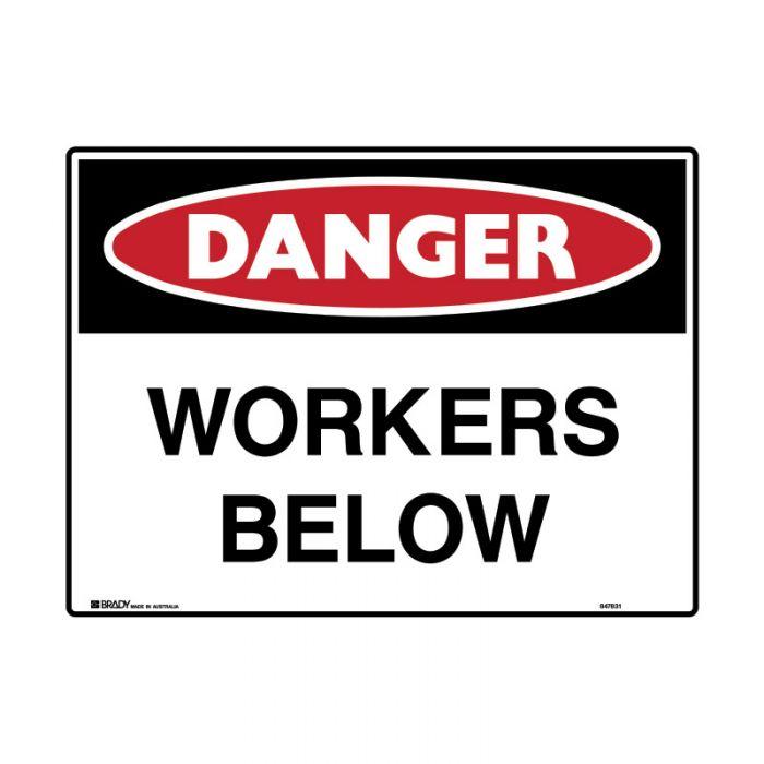 847832 Mining Site Sign - Danger Workers Below
