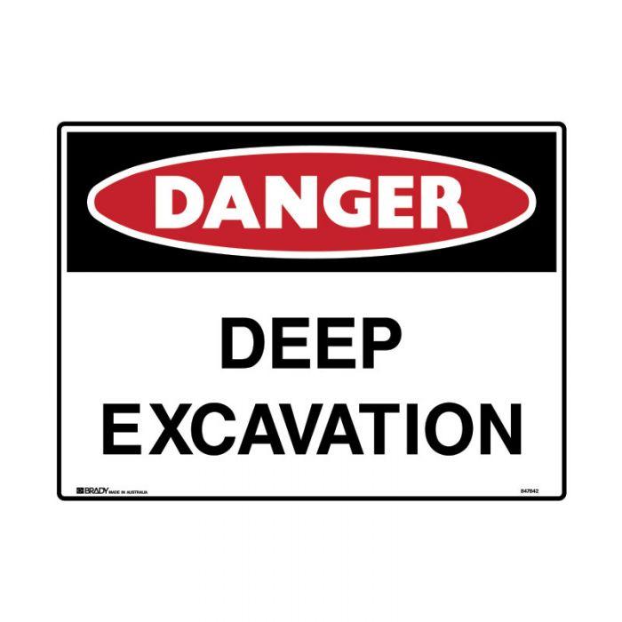 847845 Mining Site Sign - Danger Deep Excavation