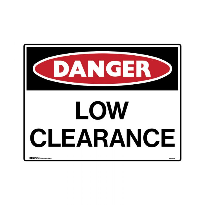 847854 Mining Site Sign - Danger Low Clearance