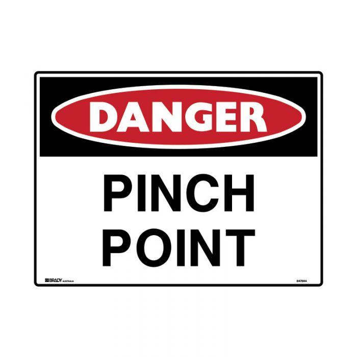 847865 Mining Site Sign - Danger Pinch Point