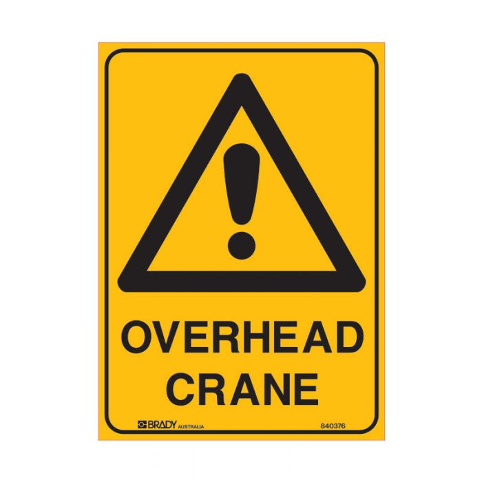 847876 Mining Site Sign - Overhead Crane