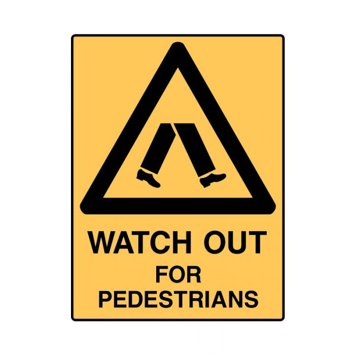 847884 Mining Site Sign - Watch Out For Pedestrians