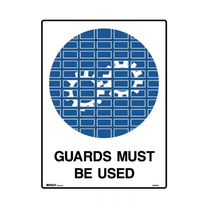 847907 Mining Site Sign - Guards Must Be Used
