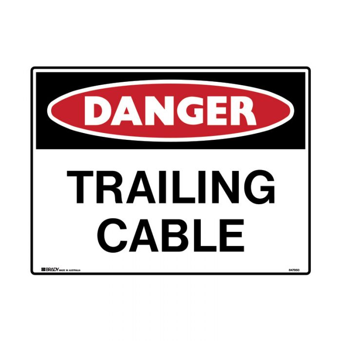 847953 Mining Site Sign - Danger Trailing Cable