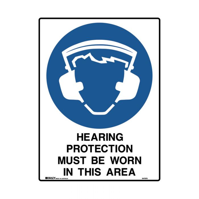 847981 Mining Site Sign - Hearing Protection Must Be Worn In This Area
