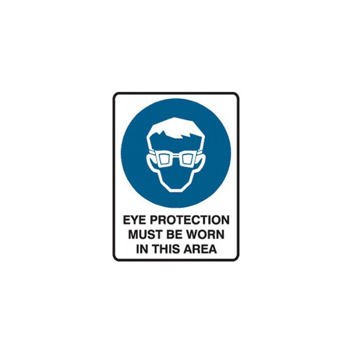 847985 Mining Site Sign - Eye Protection Must Be Worn In This Area