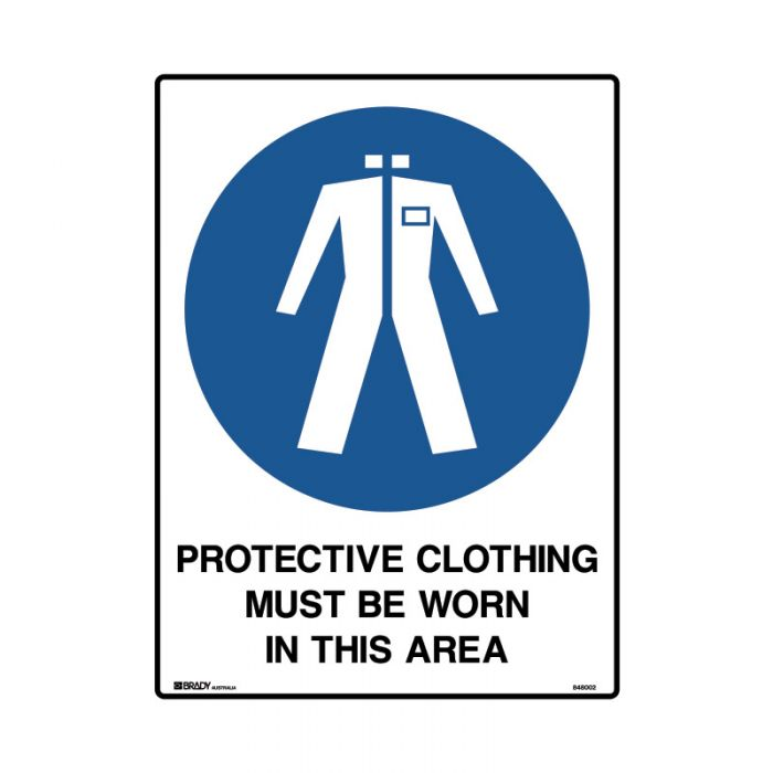 848002 Mining Site Sign - Protective Clothing Must Be Worn In This Area