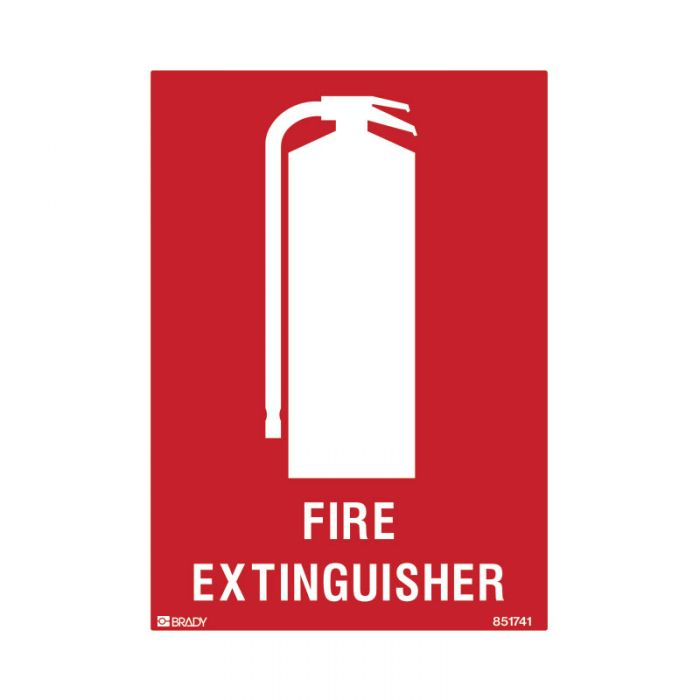 851741 Small Stick On Labels - Fire Extinguisher