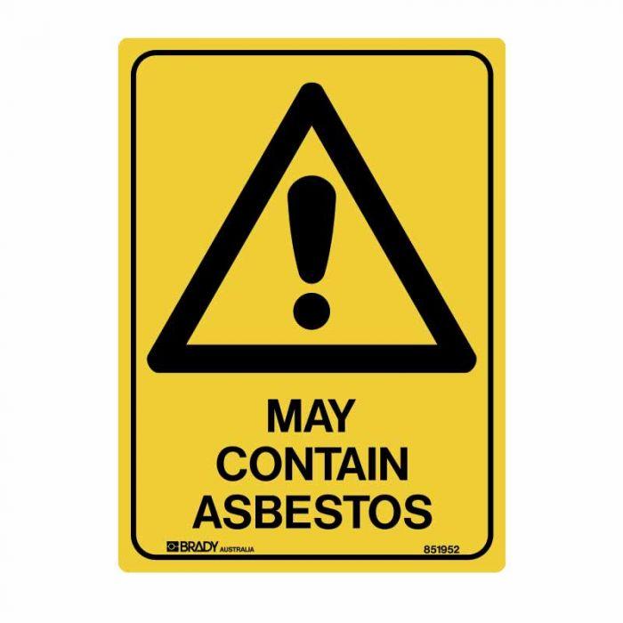 852283 Asbestos Sign - May Contain Asbestos