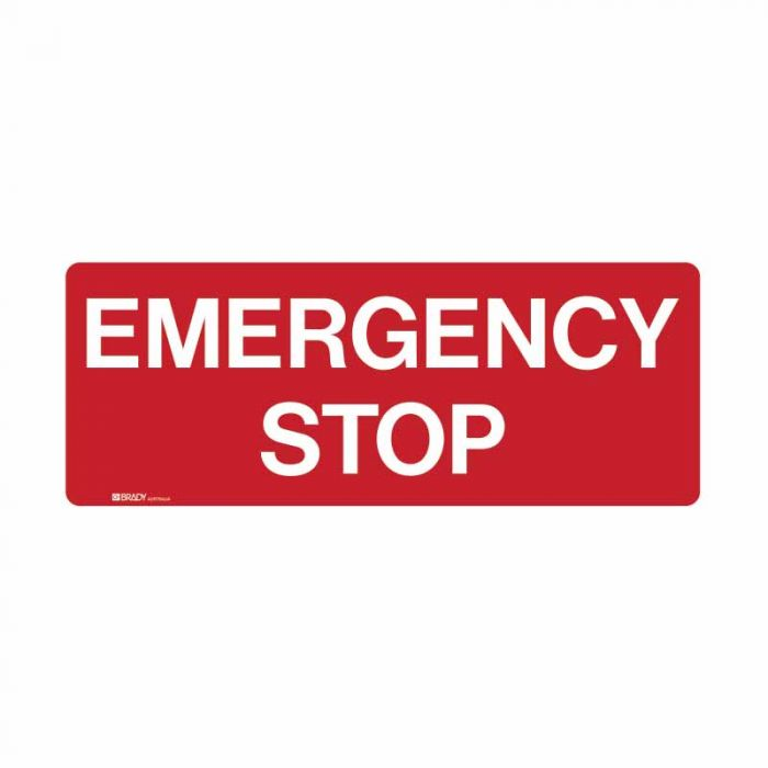 852475 Emergency Information Sign - Emergency Stop