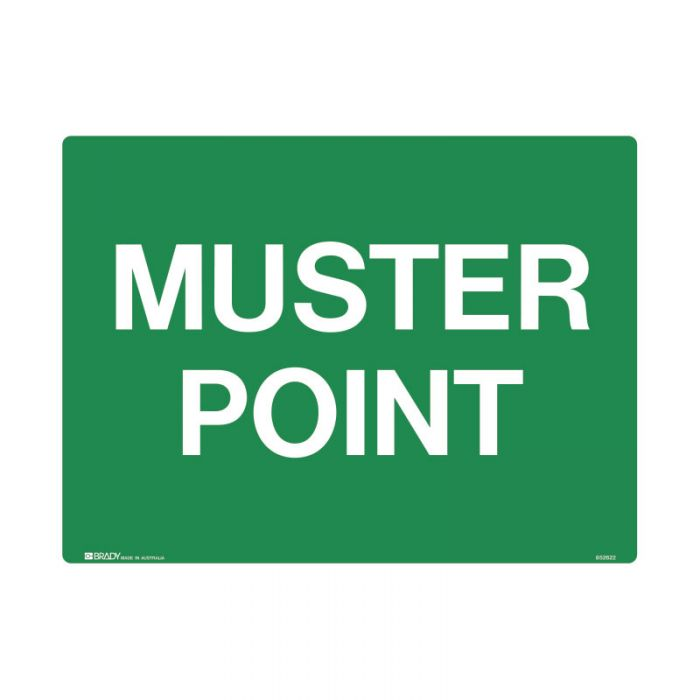 852621 Emergency Information Sign - Muster Point