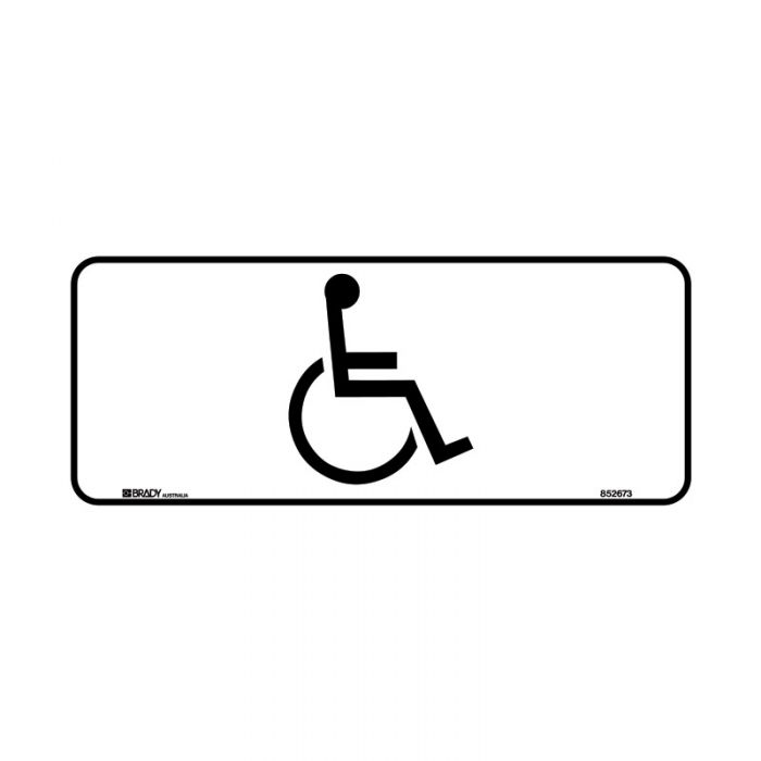 852672 Door Sign - Disabled