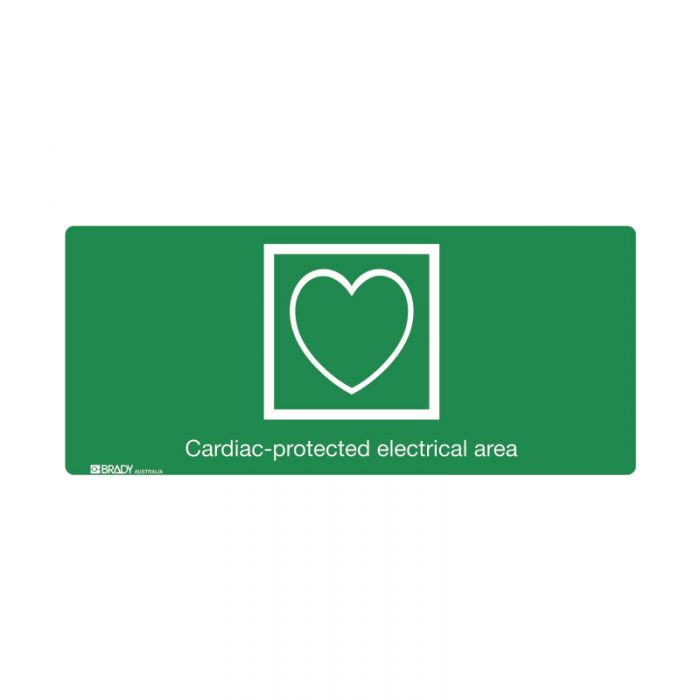 853676 Hospital-Nursing Home Sign - Cardiac Protected Electrical Area