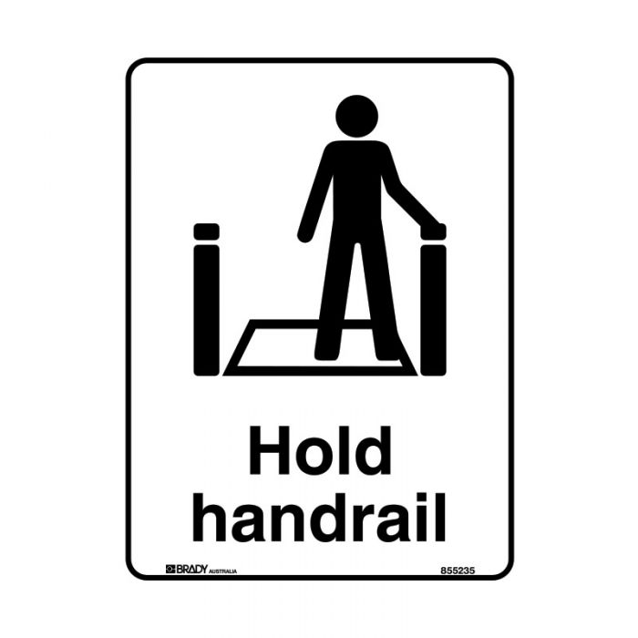 855386 Public Area Sign - Hold Handrail