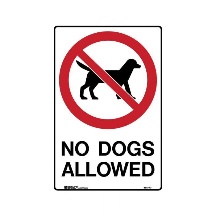 855770 Park Sign - No Dogs Allowed