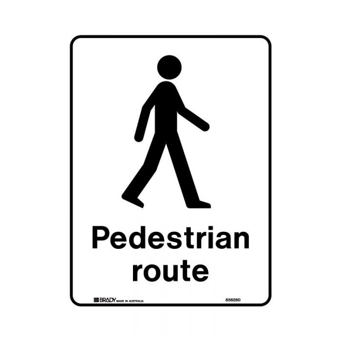 855883 Public Area Sign - Pedestrian Route