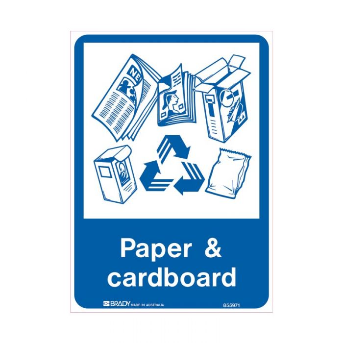 855971 Recycling-Environment Sign - Paper & Cardboard