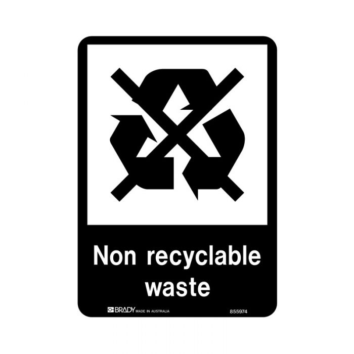 855975 Recycling-Environment Sign - Non Recyclable Waste