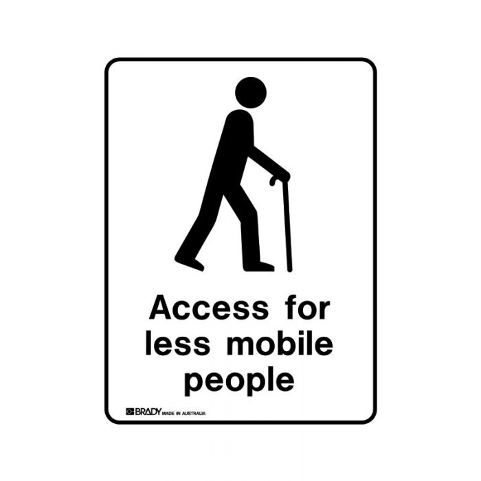 856237 Public Area Sign - Access For Less Mobile People