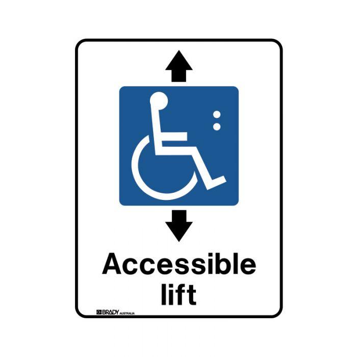856253 Public Area Sign - Accessible Lift