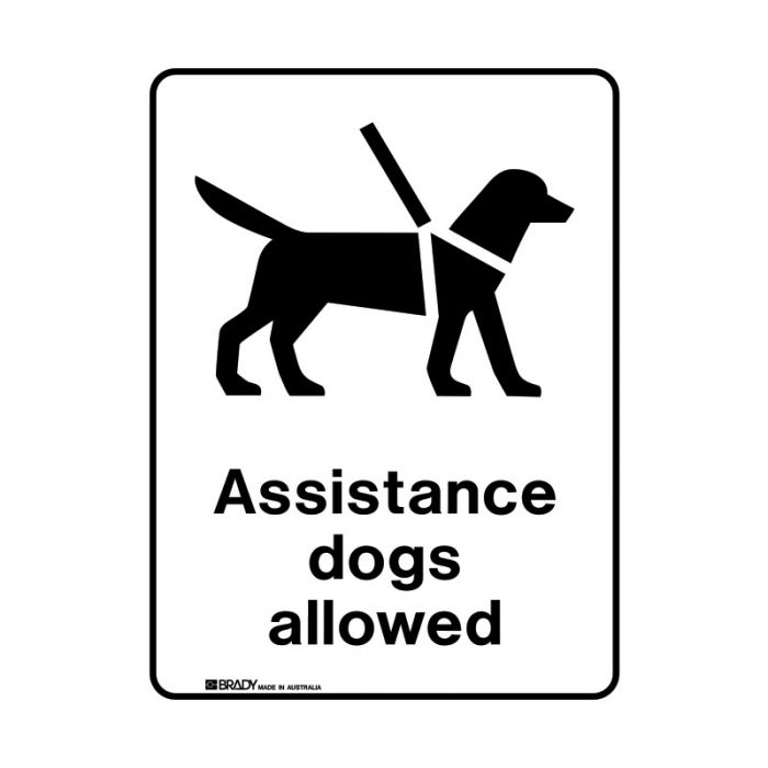 856258 Public Area Sign - Assistance Dogs Allowed