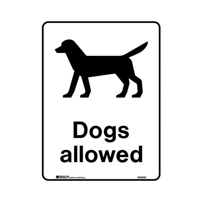 856260 Public Area Sign - Dogs Allowed