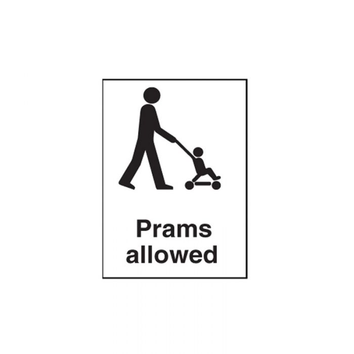 856275 Public Area Sign - Prams Allowed