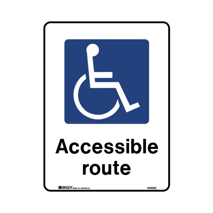 856281 Public Area Sign - Accessible Route
