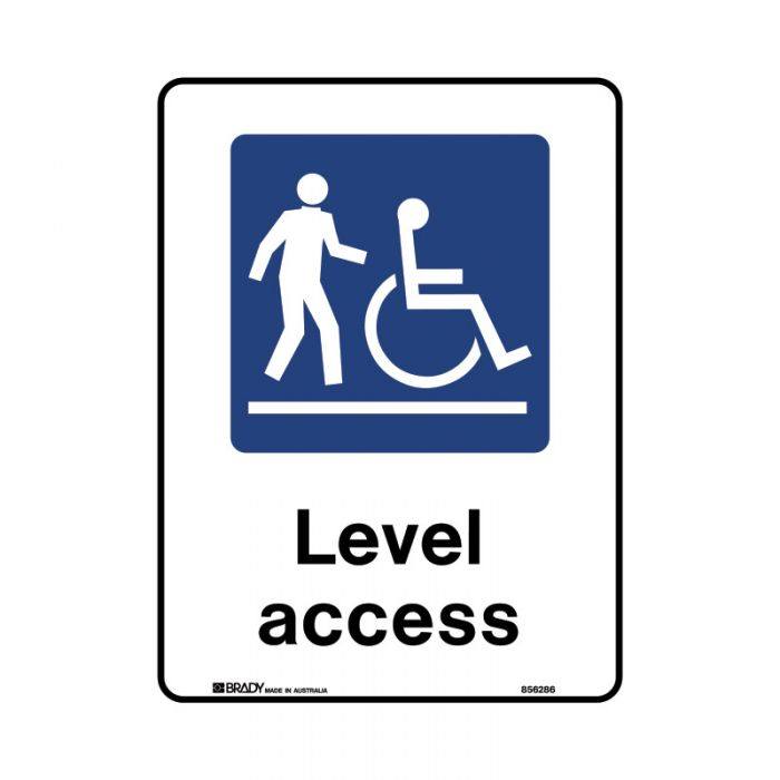 856287 Public Area Sign - Level Access