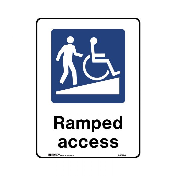 856289 Public Area Sign - Ramped Access