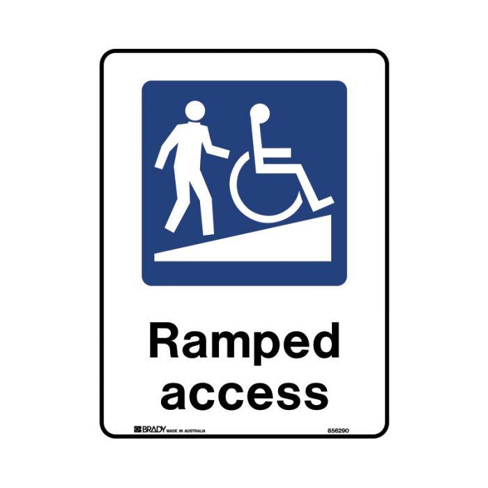 856292 Public Area Sign - Ramped Access