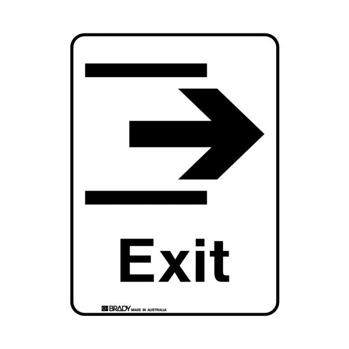 856295 Public Area Sign - Exit Right